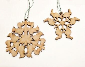 Laser Cut Wood Ornaments