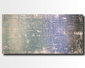 Large Abstract painting - 24 X 48- Art-by Artist JMJartstudio -Beyond all -Wall art-wall decor Blue painting-Oil painting-XXL-gray paintings