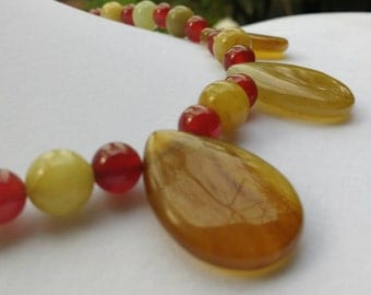 Orange and Yellow Necklace