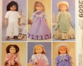Period Pieces - Several DRESSES, Shaw, SKIRT, BOLARO, Top and Muff  -  McCalls 2609   Six different Outfits
