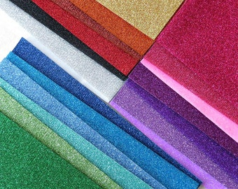 Sparkly Glitter Heat Transfer Sheets for Felt - 9x12 Sheets