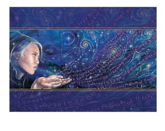Cosmic Whispers Greeting Card