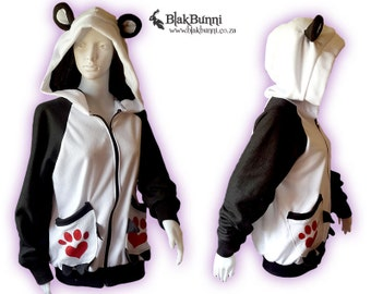 MADE TO ORDER Panda Love Hoodie Cute Claw pockets