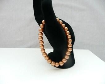nbs-Honey Pearl Stretch Bracelet