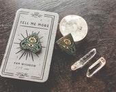 No - planchette enamel pin - Tell Me More series