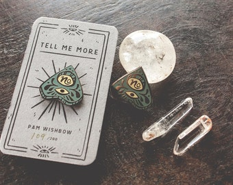 No - planchette enamel pin - Tell Me More series