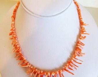 Pretty Vintage 1960's  Branch Coral Necklace