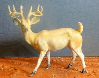 Deer Buck figurine/Celluloid Plastic Composite/Male Deer with Rack