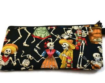 Dia De Los Muertos Zip Bag