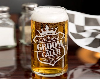 Personalized Crown Groomsmen Gift 16oz or 20oz beer can Wedding Gift Couple Favors Usher Best Man Father of the Bride Bachelor Party Gift