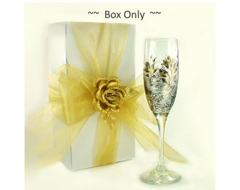 "Bulk Gift Boxes 20  10"" x 4"" x 4"" White -  Bridesmaids' Gifts Gift Boxes Champagne Flute Wine Glass Wedding Party Gift Box Supplies"