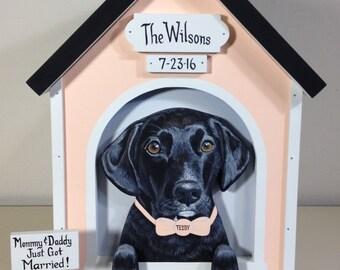 Large Wedding Card Box Dog House