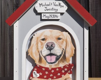 Wedding Card Box Dog House - Card Box for Medium Weddings