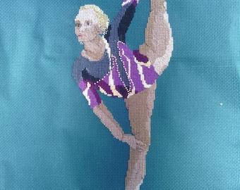 Gymnast Cross-Stitch Vasiliki Milousi (Greece)