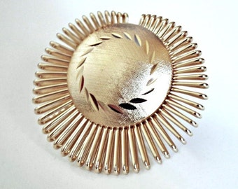 VINTAGE Rose Gold Color Scarf Clip  MINT CONDITION