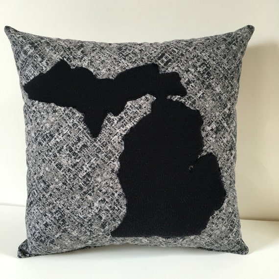 Man Cave Pillow With Cup Holder : Michigan state pride pillow man cave throw by