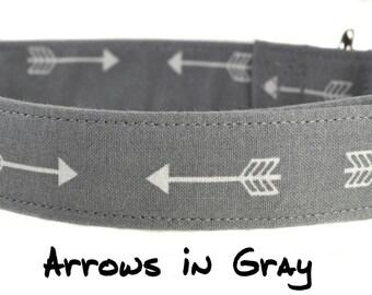 Arrows in Gray - Dog Collar