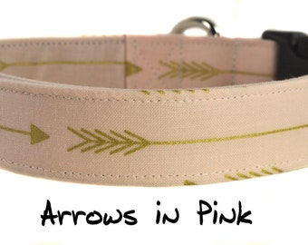 Arrows in Pink - Dog Collar