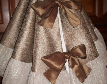 """Amazing 58"""" Bronze and Silver Anthropologie Inspired Reversible Christmas Tree Skirt 2016 Collection"""