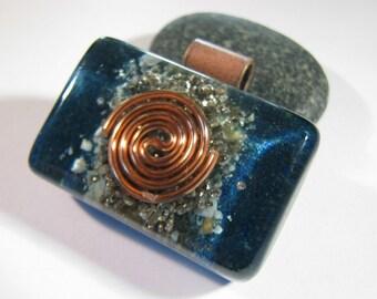Orgonite Pendant - Azurite and Turquoise