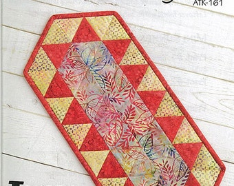 TANKINI Table Runner Pattern - Atkinson Designs ATK-161 - Quilted Table Topper Runner Pattern - Triangle Quilt - Fat Quarter Friendly