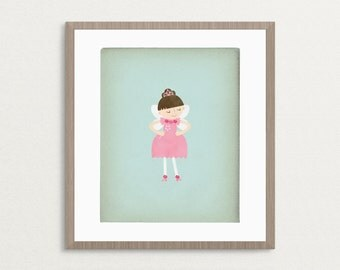 Little Fairy Girl - Customizable 8x10 Archival Art Print