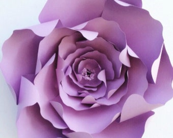 Paper flower template with video tutorial, DIY paper flower pattern, paper flower PDF, paper flower backdrop, large paper flower template