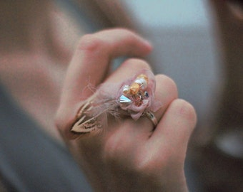 gypsy feather ring, boho feather ring, hippie feather ring