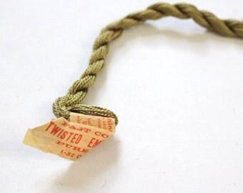 Antique Silk Thread Twisted Silk Dark Leaf Green