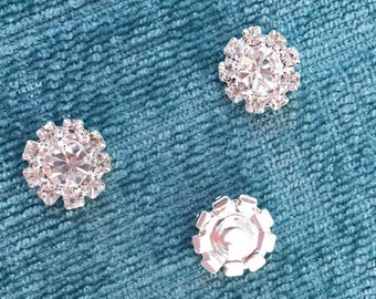 Rhinestone Buttons 12MM flatback Set of 5
