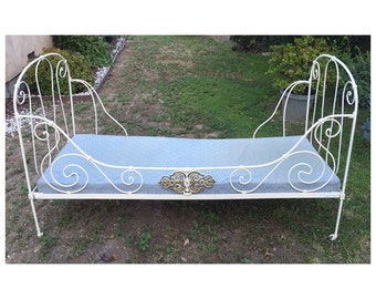 19th Century French Iron folding day bed, daybed from Paris France, Only! LOCAL Pickup Los Angeles, CA****