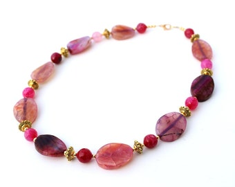 Pink Necklace for Her