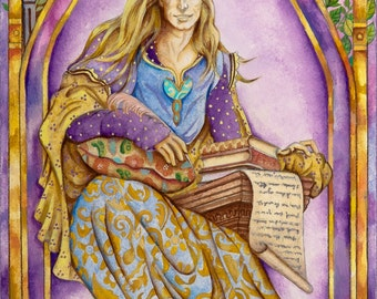 The Poet- From The Chrysalis Tarot Troupe Of Medieval Characters
