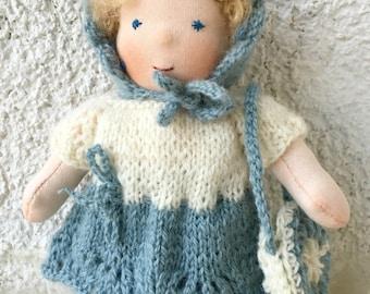 Waldorf doll. Girl 7 inch. Pocket doll.
