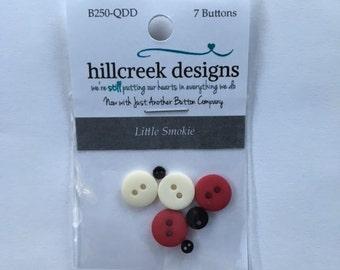 Little Smokie Button Pack from Hillcreek Designs B250-QDD