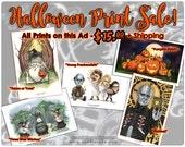 Halloween Art Print Sale Totoro Pinhead Jackolantern Young Frankenstein 11x17 A3