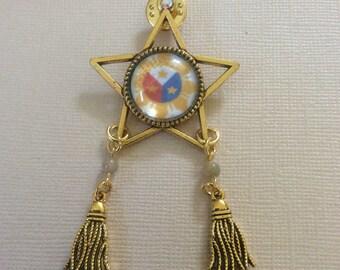 Unique, One of a kind Handmade Filipino Christmas Parol Pin