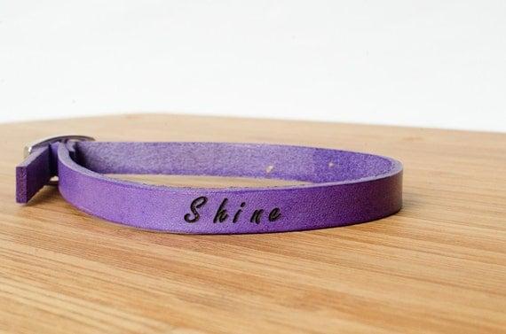 Shine Custom Skinny Adjustable Leather Bracelet