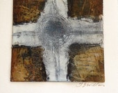 Celtic Cross Hot Wax (Encaustic) Painting