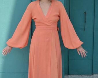Ossie Clark cuddley gown dress size UK 14