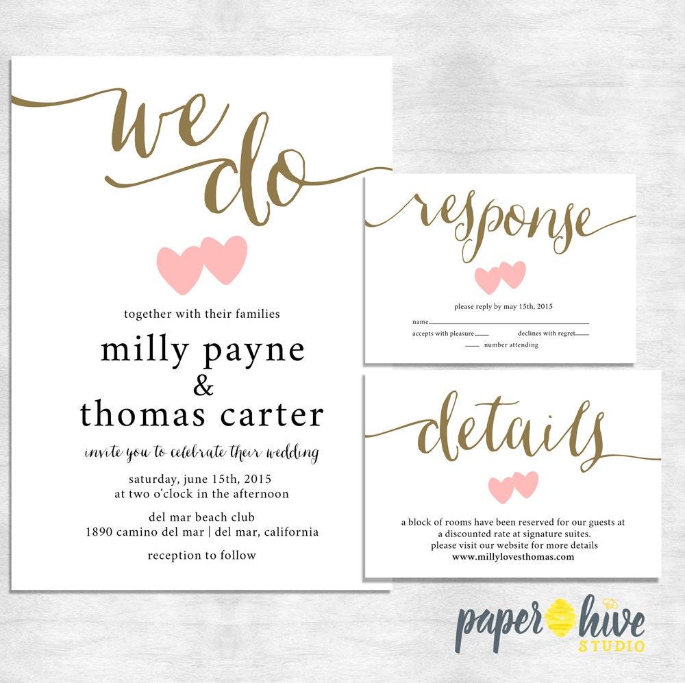 We do wedding invitations calligraphy invitation set