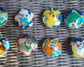 Pokémon Handmade Knobs Drawer Pull Set of 8 Dresser Knob Pulls Switch Plate Covers to Match in Shop