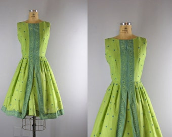 vintage 1950s dress / vintage 50s Jerry Gilden dress / Flyaway dress