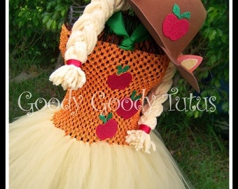 APPLE of MY EYE My Little Pony Inspired Tutu Dress with Matching Cowboy Hat