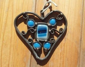 Valentine's Day Blue Heart Home Decor Women Girl Mother Small Wall Decor Fusing Pendant