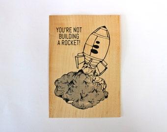 Rocket - Screen print on wood veneer // Rocket - Sérigraphie sur placage de bois