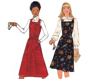 70s Womens Jumper Pattern Simplicity 8118 Vintage Sewing Pattern Size 12 Bust 34 inches