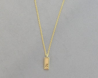 Gold Plated Initial G Necklace
