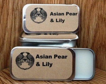 Asian Pear and Lily Solid Perfume Balm