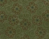 Kansas Winter - spirals on green - Kansas Troubles fabric - Moda - OOP VHTF